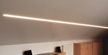led lichtband decke glas pendelleuchte modern. Black Bedroom Furniture Sets. Home Design Ideas